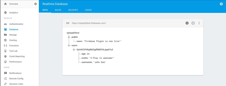 Firebase Plugin   Felgo Documentation