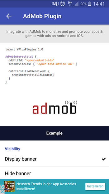 AdMob Plugin | Felgo Documentation