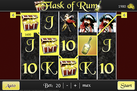 """This tutorial guides you step-by-step on the way to create the slot game Flask of Rum."""