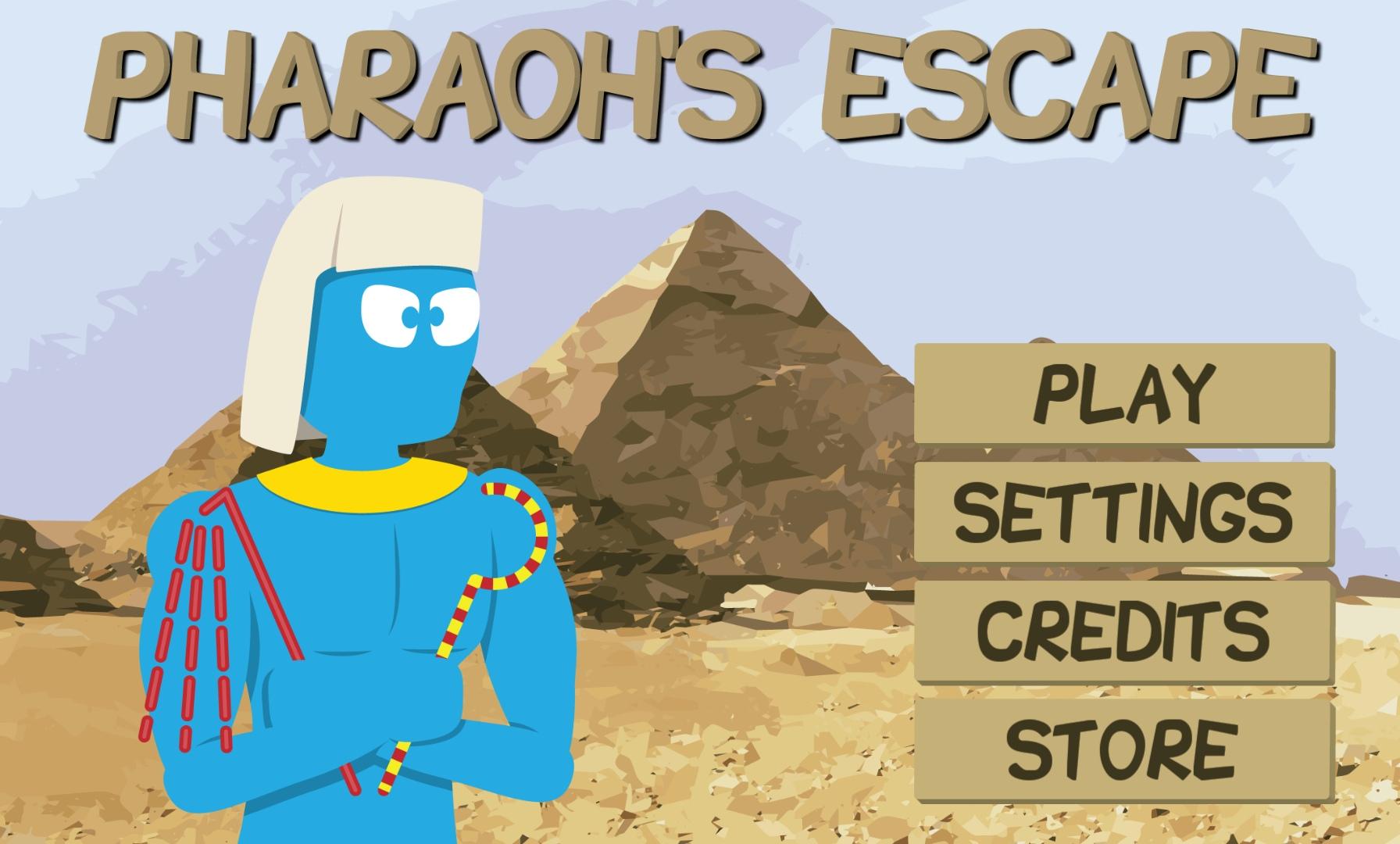 Pharaos Escape MainMenu