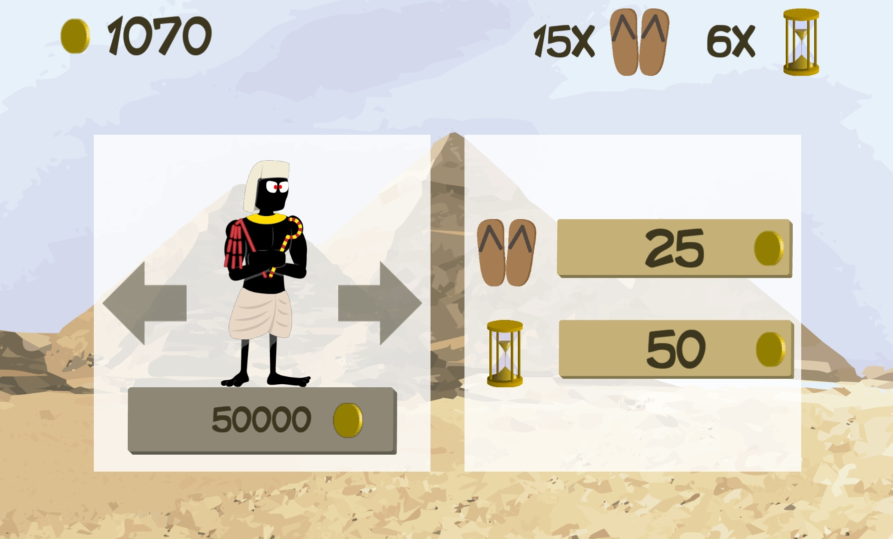 Pharaos Escape Store