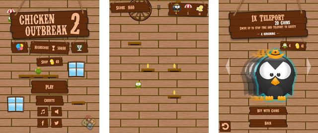 Chicken Outbreak 2 - Falldown game by Felgo
