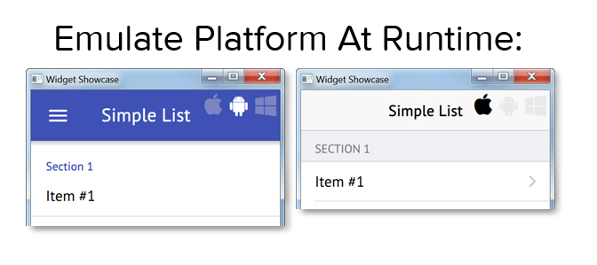 Qt Mobile Platform Simulation on Desktop