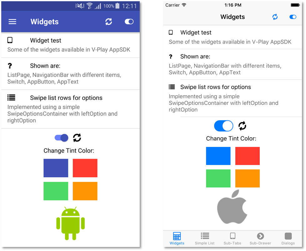 V-Play Widgets