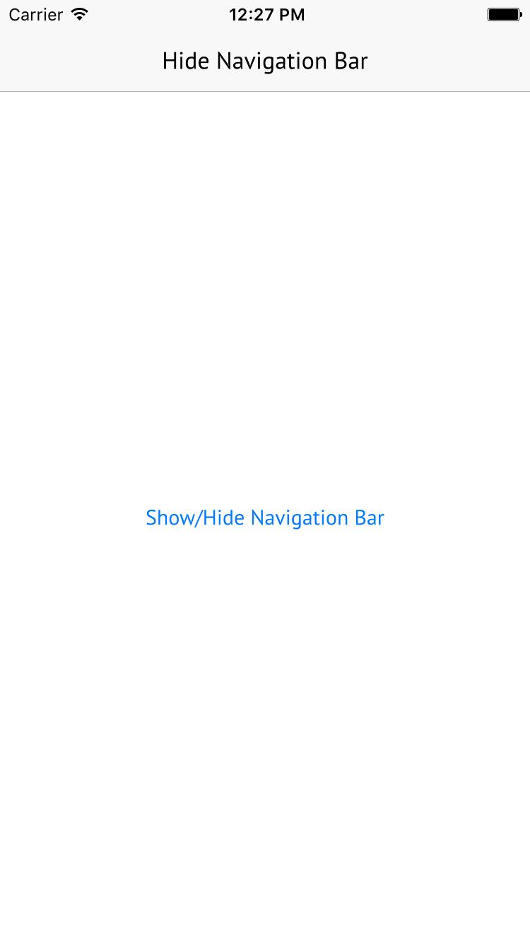 Hide the Navigation Bar