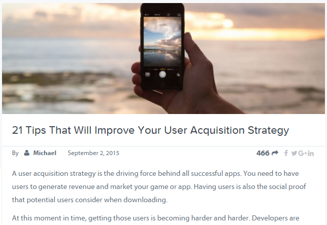 User Acquisition