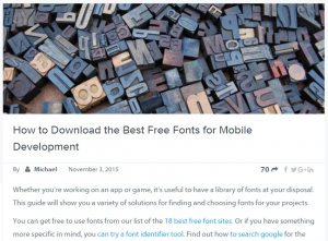 best free fonts screen capture