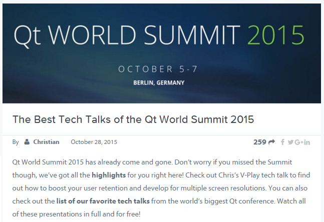 qt world summit screen capture
