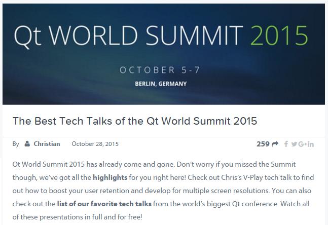 qt world summit screen capture