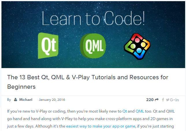The 13 Best Qt, QML & Felgo Tutorials and Resources for Beginners 2019
