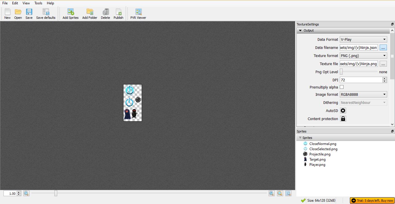 TexturePacker Screenshot