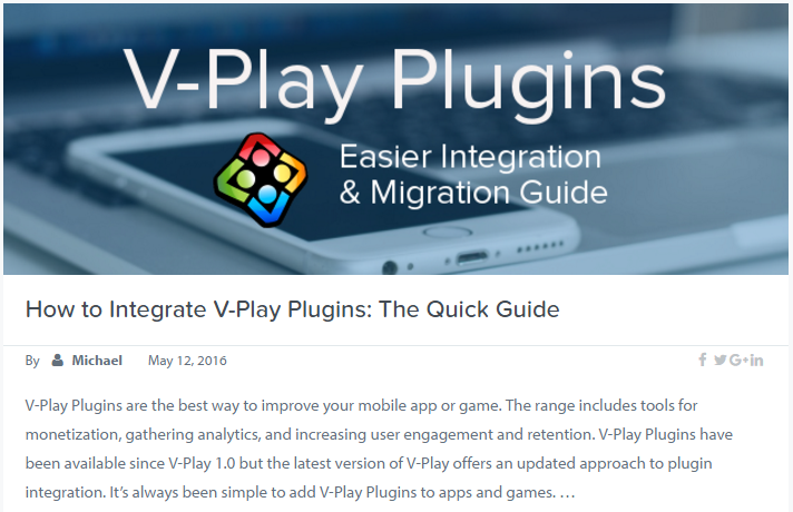 Integrate V-Play Plugins