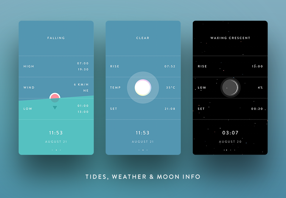 mobile UI design - marline