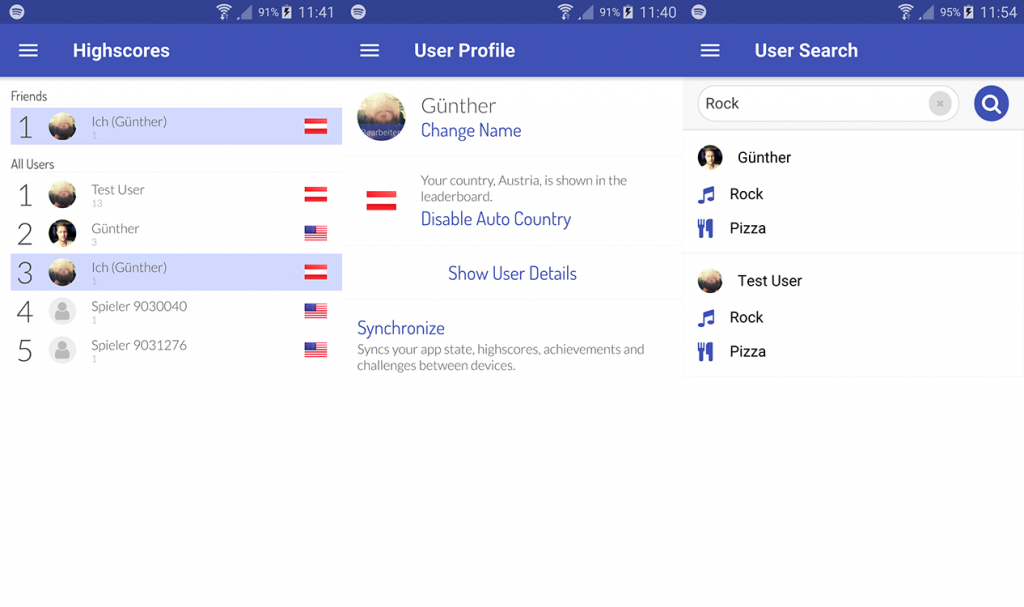 SocialView Leaderboard Profile and User Search