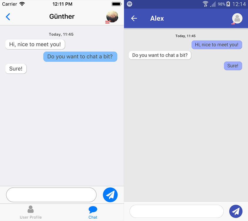 SocialView Chat with Push Notification
