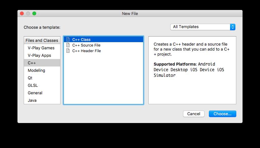 Add a new C++ Class