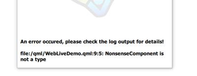 Felgo Live Client Error Screen Log Output
