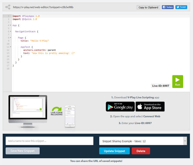 vplay-web-editor-cloud-ide-with-code-snippet-sharing