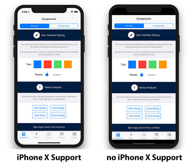 App Support for iPhone X