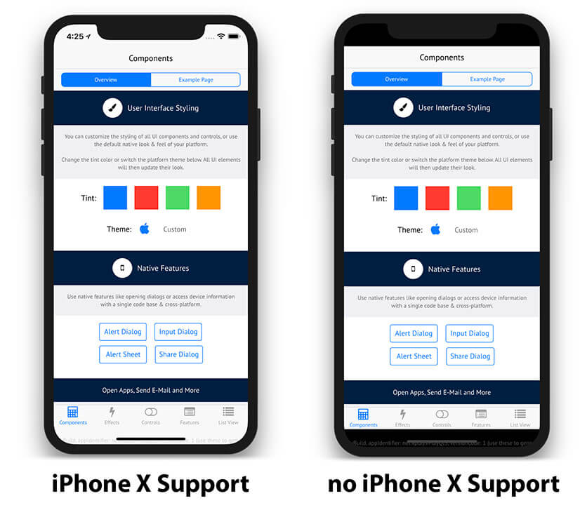iOS App with and without iPhone X Support
