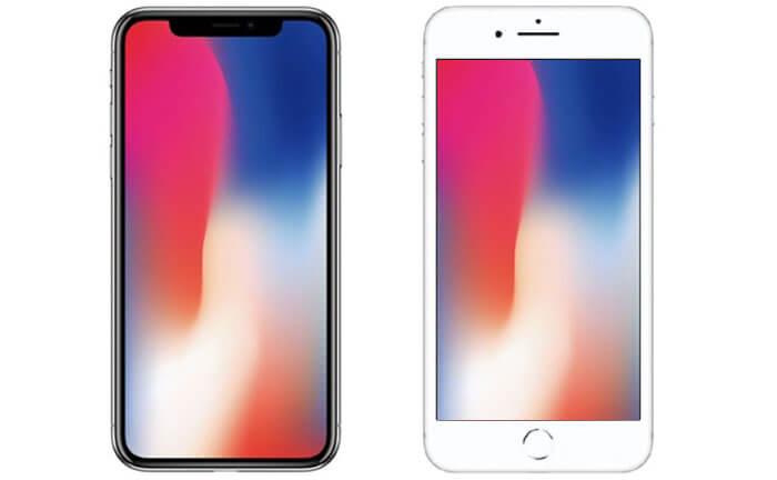 iPhone X with Edge-To-Edge Display vs. iPhone 8