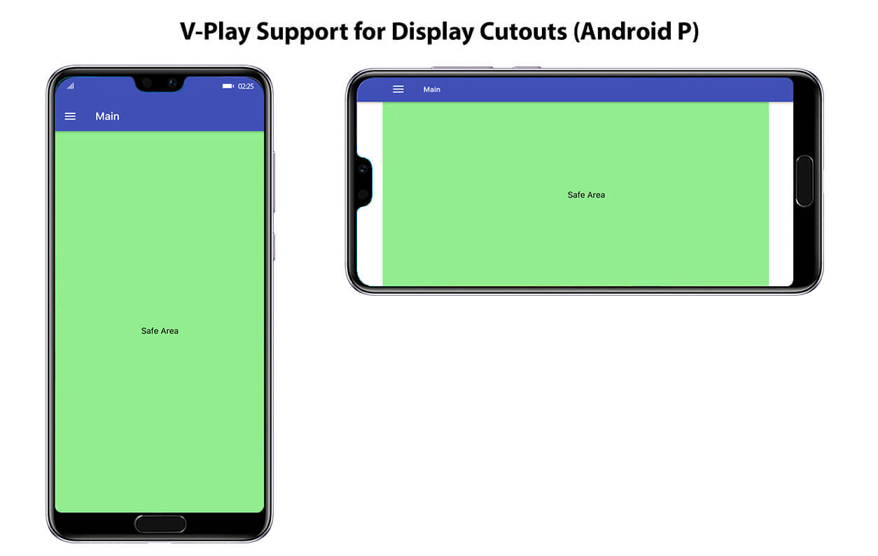 V-Play Support for Android P and Display Cutouts