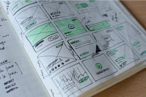 sketch in a notebook