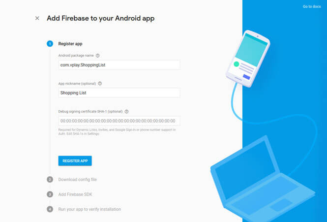 firebase-register-android-app