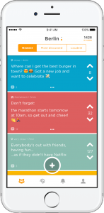 A social anonymous messaging app example