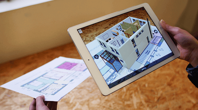 Mobile augmented reality app for real-estate