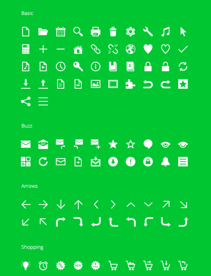 Graphicburger - 350 free Android icons