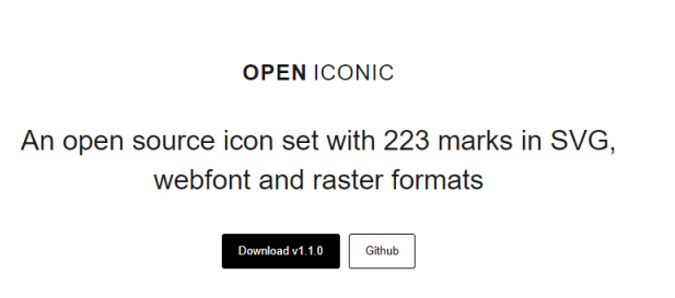 Useiconic - An open source icon set with 223 marks in SVG, Webfont and raster formats